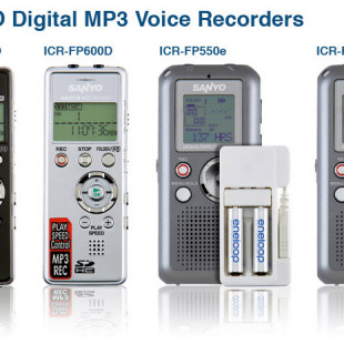 Sanyo debuts four Digital MP3 voice recorders