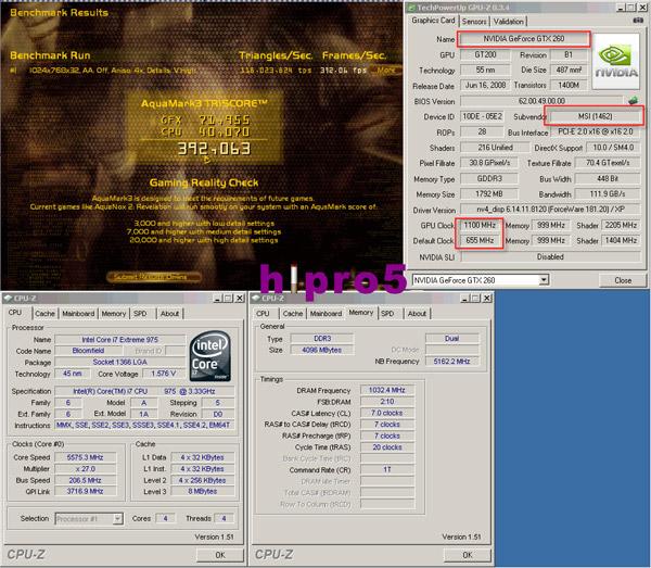 MSI N260GTX Lightning overclock