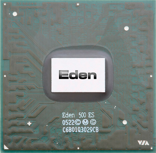 "500MHz VIA Eden ULV Embedded Processor, aka ""the 1-watt processor"""