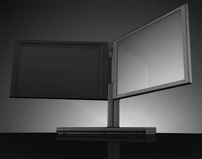 EVGA InterView 1700 dual monitor system