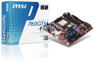 MSI 760GTM-P33 mainboard