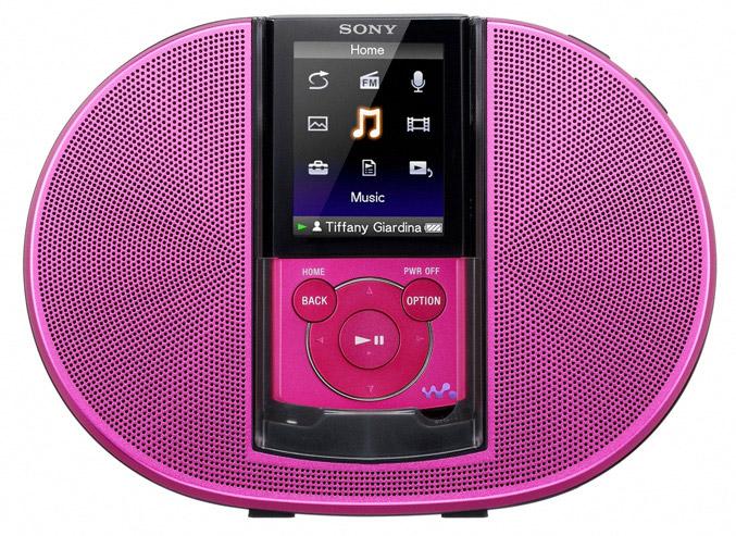 Sony WALKMAN E440K speaker kit pink