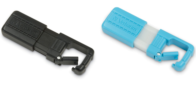 Verbatim TUFF-CLIP flash drives