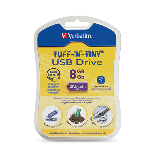 Verbatim TUFF-N'-TINY USB flash Drive Box