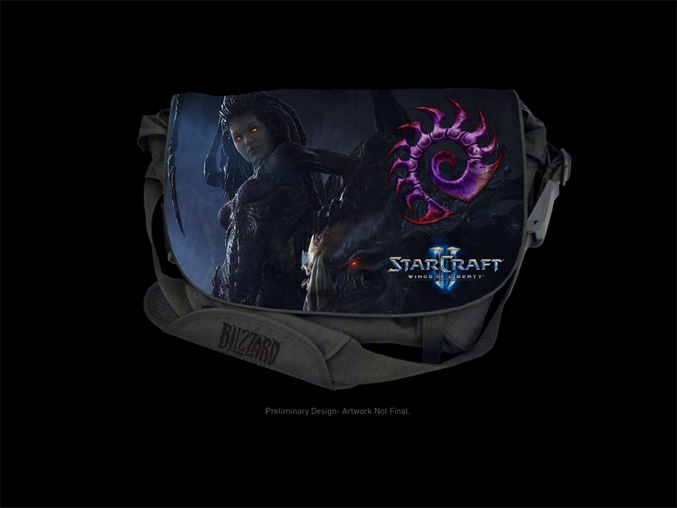 Starcraft II Zerg Edition Messenger Bag