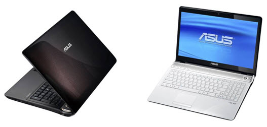 Asus N61 brown and white notebook