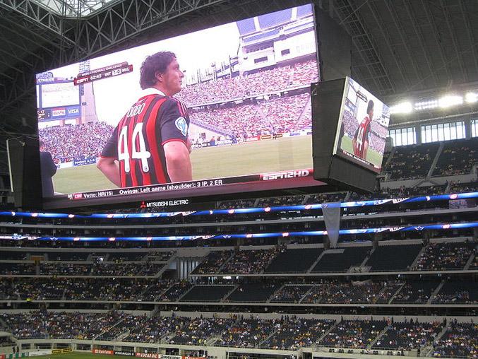 Mitsubishi Electric Diamond Vision Scoreboards at Dallas Cowboys Stadium
