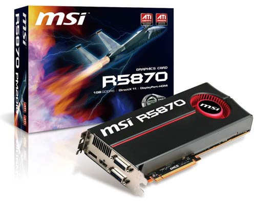 MSI R5870 graphic card
