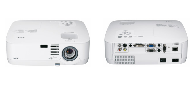 Nec NP portable series projectors