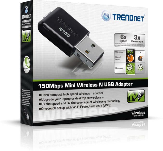 TRENDnet Mini Wireless N USB Adapter(TEW-648UB)
