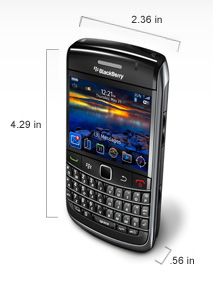 BlackBerry Bold 9700 dimensions