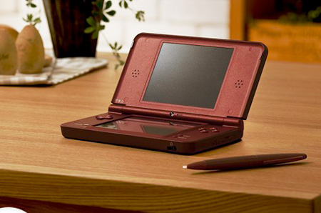 Nintendo DSi LL Whine Red.