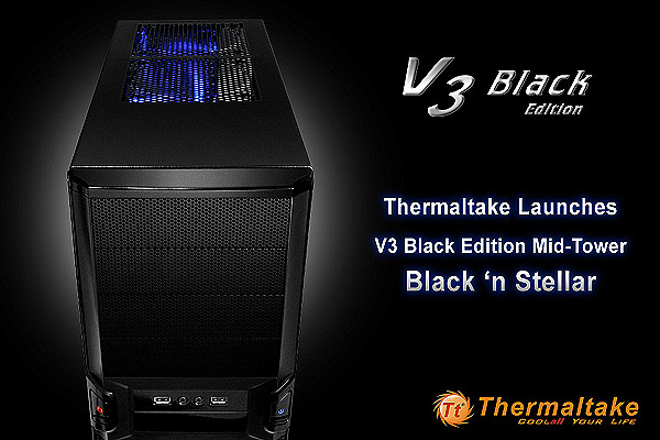 Thermaltake V3 Black Edition Mid-Tower Black'n Stellar