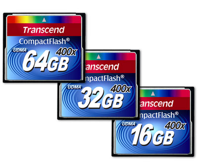 Transcend CF400X Compact Flash memory cards