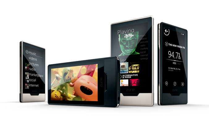 Zune HD Black and Platinum