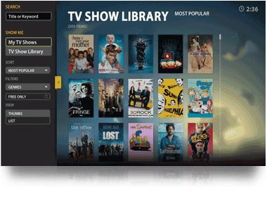 TVShow Library Sidebar