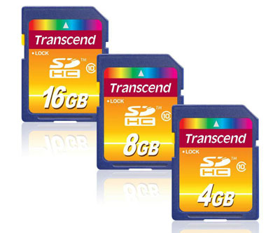 Transcend Ultimate Class 10 SDHC Cards