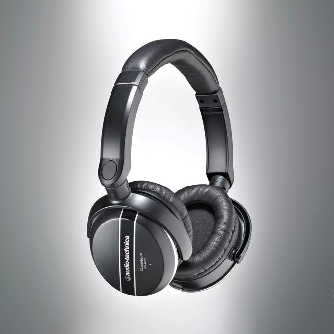 Audio-Technica ATH-ANC27 QuietPoint Active Noise cancelling Headphones