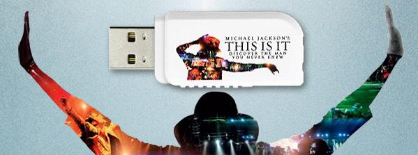 Kingston DataTraveler  USB Flash drive - Michael Jackson's THIS IS IT