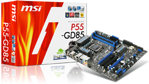 MSI P55-GD85 mainboard
