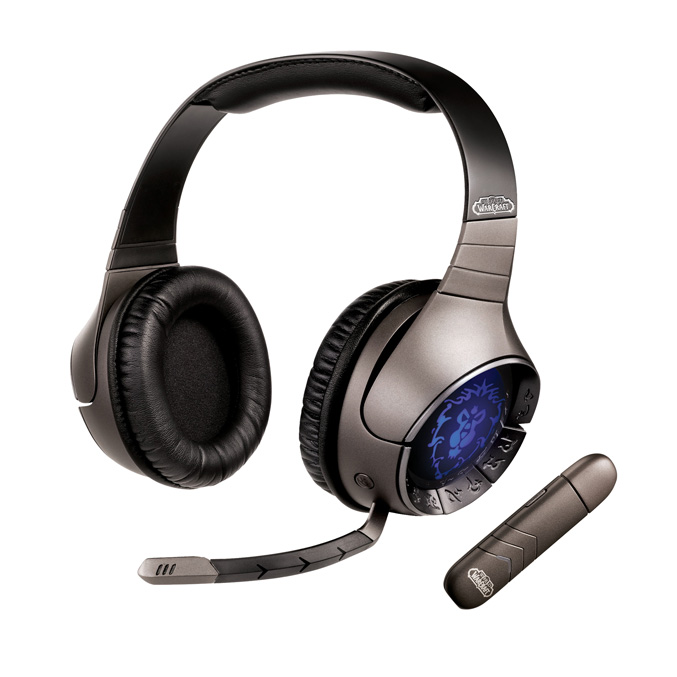 Creative Sound Blaster World-of Warcraft Wireless Headset with Alliance Artwork
