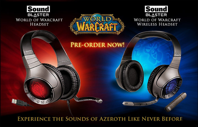 Creative Sound Blaster World-of Warcraft Wireless Headsets