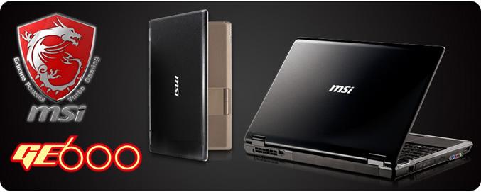 MSI GE600 notebook
