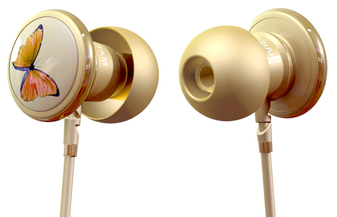 Monster BUTTERFLY In-Ear Headphones by Vivienne Tam
