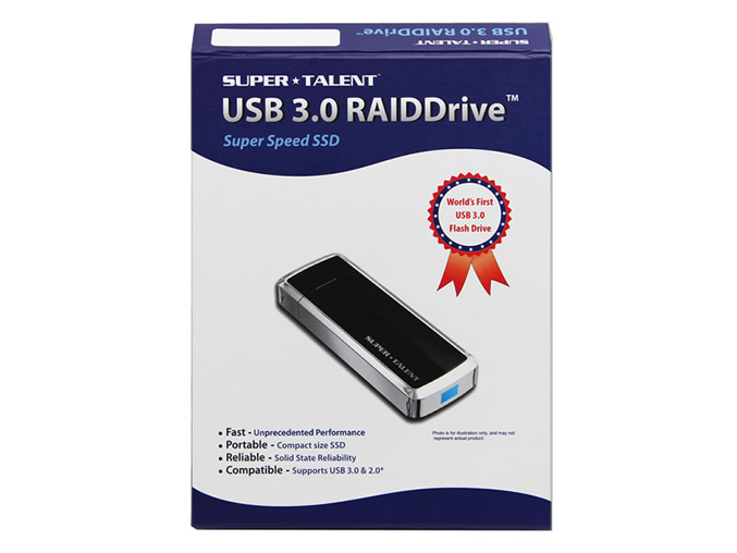 Super Talent SuperCrypt USB 3.0 drive box