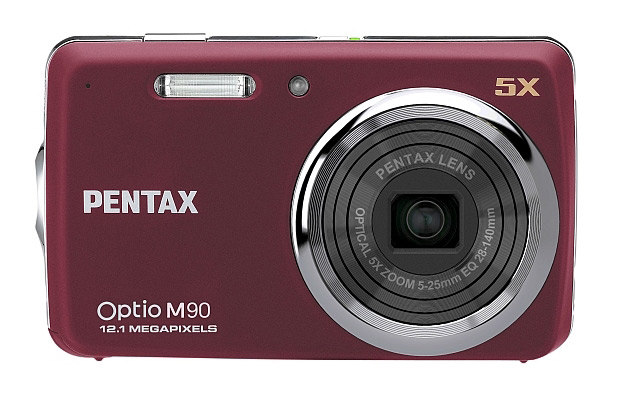 Pentax Optio M90 burgundy red