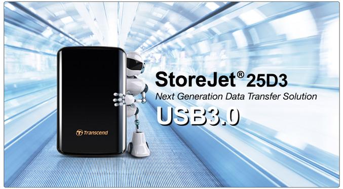 Transcend StoreJet 25D3 USB3 portable HDD