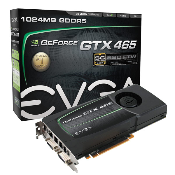 EVGA GeForce GTX 465 SuperClocked