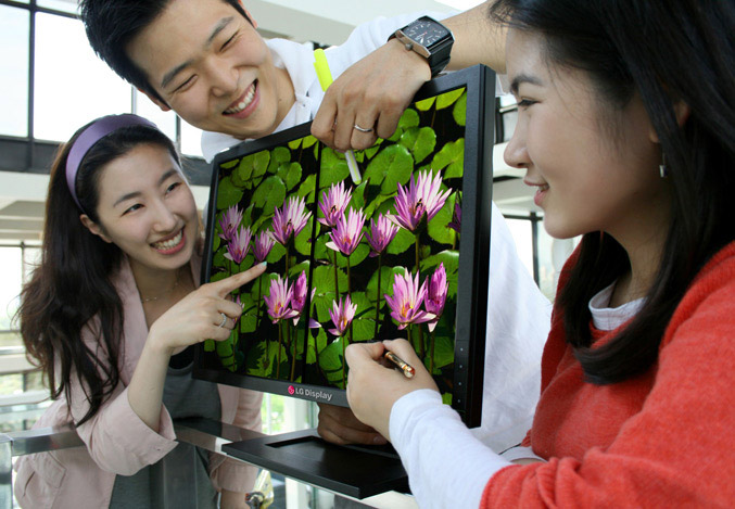 LG LCD Monitor with optical touch technology