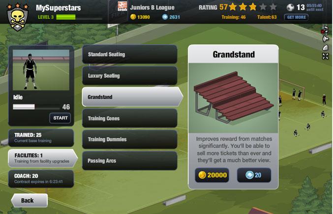 EA SRPOTS FIFA Superstars on Facebook