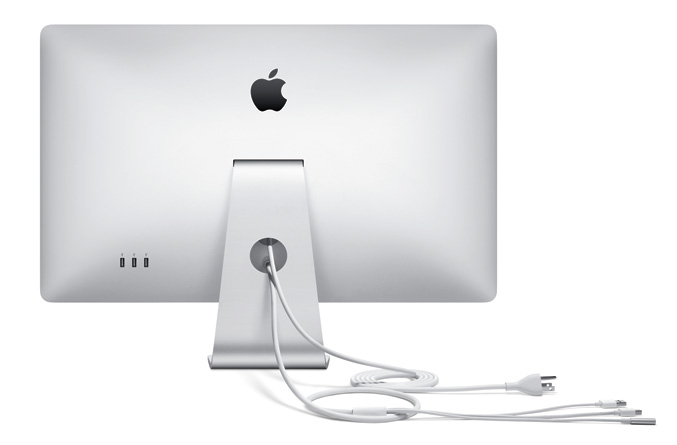 Apple 27-inch LED Cinema Display -back