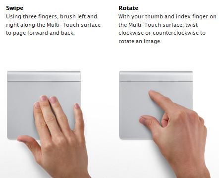 Apple Magic Trackpad-geastures