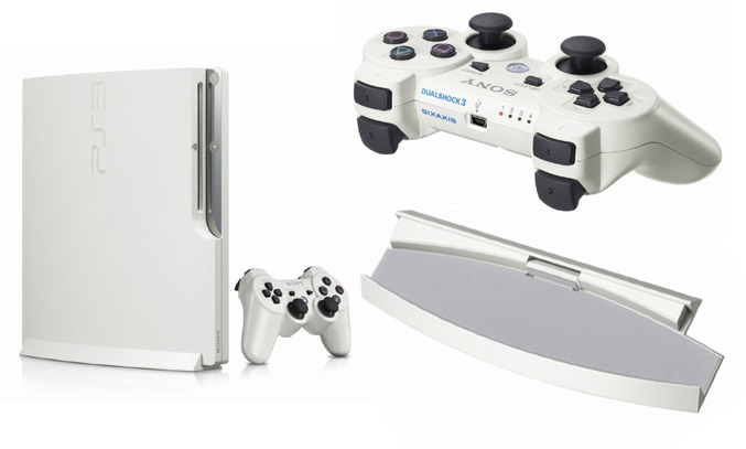 Playstation 3 white peripherals