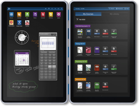 Kno dual screen tablet textbook