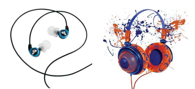 db Logic earphones and db Logic for kids