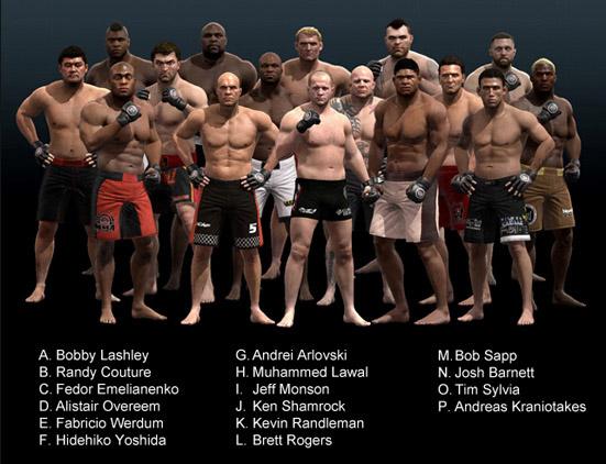 EA Sports MMA heavyweight fighters