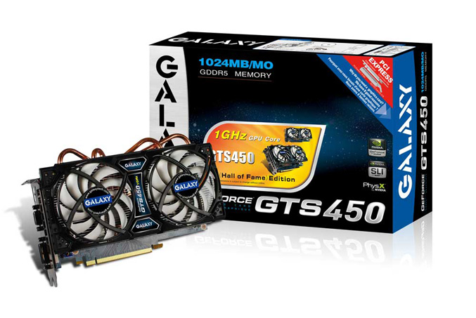 Galaxy GeForce GTS 450 Hall Of Fame edition