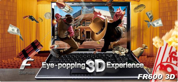 MSI FR600 3D laptop