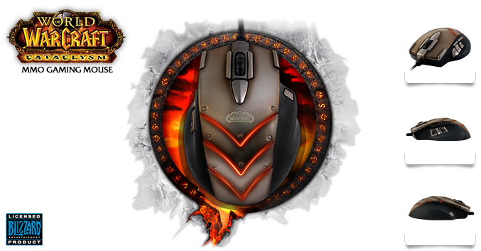 SteelSeries World of Warcraft Cataclysm MMO Gaming Mouse