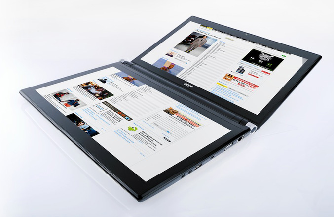 Acer Iconia dual-screen notebook