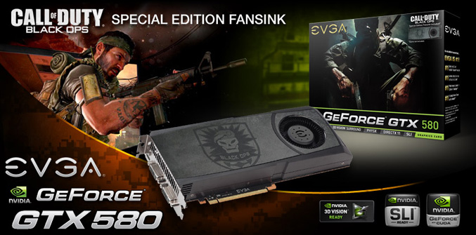EVGA GeForce GTX 580 Call of Duty:Black Ops Edition