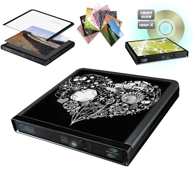 Lite On eNAU608 external DVD writer