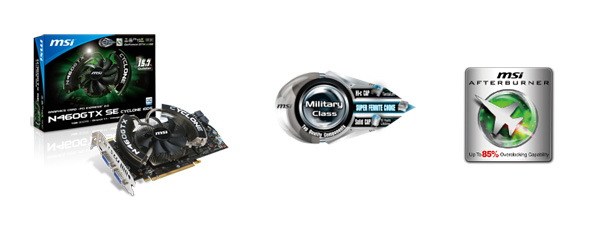 MSI N460GTX SE graphics cards
