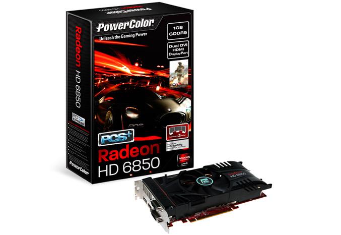 PowerColor PCS+HD6850 graphics card