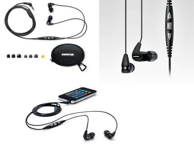 Shure SE210m+ earphones
