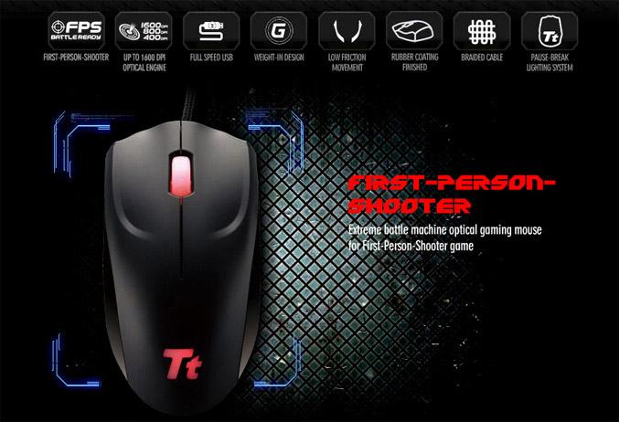 Tt eSPORTS Azurues Optical Gaming Mouse
